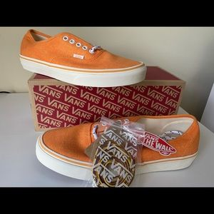 VANS® Washed Canvas Sneakers in Orange - Size 10M